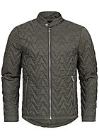 Eight2Nine Men Zig Zag Quilted Jacket by Sky Rebel olive