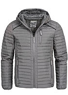 Eight2Nine Men Hooded Light Padded Quilt Jacket by Sublevel grey