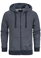 Eight2Nine Men Basic Sweat Zip Hoodie by Sky Rebel navy blue