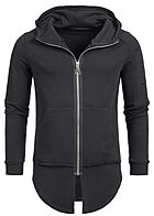 Seventyseven Lifestyle Men Open Edge Long Zip Hoodie black