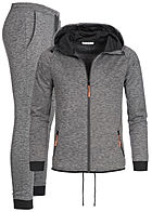 Seventyseven Lifestyle Men Interlock Sweatsuit dark grey