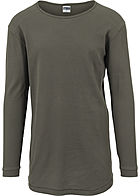 Seventyseven Lifestyle Men Longsleeve Thermal Rundhals Waffel-Optik olive