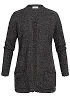 JDY by ONLY Damen Knit Cardigan 2-Pockets NOOS dunkel grau melange