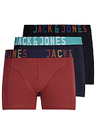 Jack and Jones Herren 3er-Pack Boxershorts schwarz navy rot