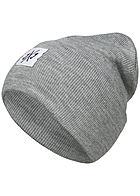 Jack and Jones Herren Beanie Frontpatch hell grau melange