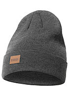 Seventyseven Lifestyle Long Beanie Frontpatch dunkel grau