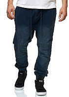 Hailys Men Relaxed Fit Jeans Hose Sweat Pants 4-Pockets dunkel blau denim