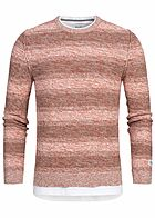 ONLY & SONS Herren Sweater 2in1 Optik rooibos tea rot
