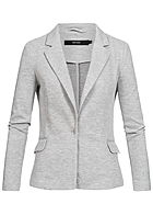 Vero Moda Damen NOOS V-Neck Jersey Blazer 2-Pockets Regular Fit hell grau melange