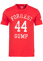ONLY & SONS Mens T-Shirt Forrest Gump Print high risk rot weiss