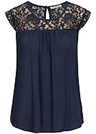 Seventyseven Lifestyle Damen Lace Top navy blau