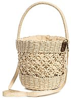 Styleboom Fashion Damen Basket Handheld Bag beige