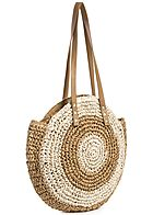 Styleboom Fashion Damen 2-Tone Basket Circle Shopper braun beige