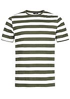 ONLY & SONS Herren Striped T-Shirt olive grün weiss