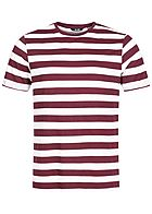 ONLY & SONS Herren Striped T-Shirt zinfandel rot weiss