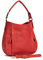 Styleboom Fashion Damen Tote Zip Bag rot