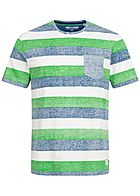 ONLY & SONS Herren Multicolor Striped T-Shirt Breast Pocket kelly grün