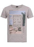 Eight2Nine Herren Printed T-Shirt Hang Out by Stitch & Soul hell grau melange