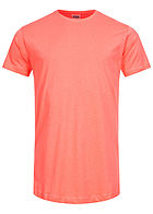 Seventyseven Lifestyle TB Herren Basic Shaped Long T-Shirt coral pink