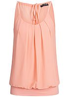 Styleboom Fashion Damen Chiffon Top rosa