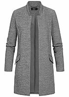 ONLY Damen Coatigan Blazer 2-Pockets medium grau melange
