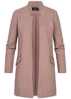ONLY Damen Coatigan Blazer 2-Pockets mocha mousse rosa melange