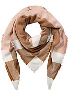 ONLY Damen Weaved Square Scarf misty rosa weiss braun