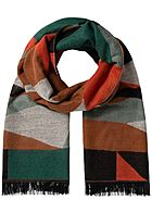 ONLY Damen Graphic Wouven Scarf ginger bread braun multicolor