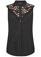 ONLY Damen Lace Blouse Top schwarz