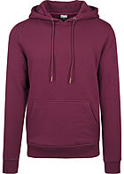 Seventyseven Lifestyle TB Herren Basic Sweat Hoodie port bordeaux rot