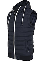 Seventyseven Lifestyle TB Herren Small Bubble Hooded Vest navy blau weiss