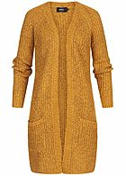 ONLY Damen NOOS Knit Cardigan golden glow gelb
