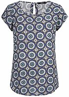 ONLY Damen Blouse Shirt Mandala Print blau cloud dancer weiss