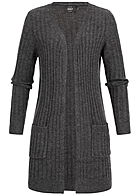 ONLY Damen Basic Knit Cardigan dunkel grau melange