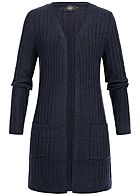 ONLY Damen Basic Knit Cardigan night sky navy blau melange
