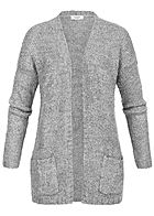 JDY by ONLY Damen Knit Cardigan 2-Pockets NOOS hell grau melange