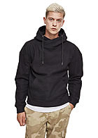 Seventyseven Lifestyle TB Herren High-Neck Hoodie Polar-Fleece schwarz