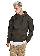 Seventyseven Lifestyle TB Herren High-Neck Hoodie Polar-Fleece olive gr�n
