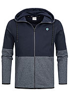 Jack and Jones Herren Sweat Zip Hoodie 2-Pockets sky captain blau