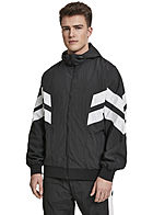 Seventyseven Lifestyle TB Herren Panel Trainingsjacke Knitter Optik schwarz weiss