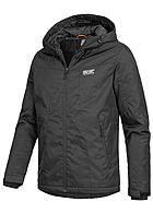 Jack and Jones Herren Funktionsjacke 2-Pockets Kapuze schwarz