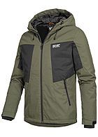 Jack and Jones Herren Funktionsjacke 2-Pockets Kapuze forest night olive grün