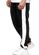 Seventyseven Lifestyle TB Herren Panel Sweatpants 2-Pockets schwarz weiss