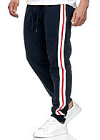 Seventyseven Lifestyle TB Herren Terry Sweatpants 2-Pockets navy weiss rot