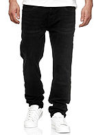Seventyseven Lifestyle Herren Stretch Denim Jeans Hose 5-Pockets schwarz