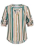 Seventyseven Lifestyle Damen Striped Turn-Up Blouse multicolor