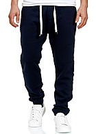 Stitch & Soul Herren Jogging Hose 4-Pockets Tunnelzug navy blau