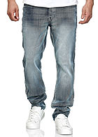 Southpole TB Herren Basic Regular Fit Jeans 5-Pockets ice blau denim