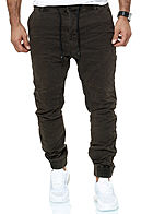 Urban Surface Herren Biker Sweat Jeans Hose Teilungsnähte 5-Pockets dark forest grün