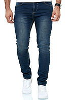 Eight2Nine Herren Ultra Flexx Skinny Jeans Hose 5-Pockets medium blau den by Sky Rebel